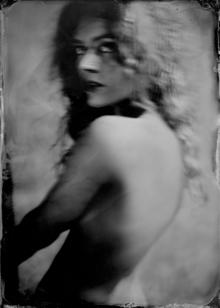 Kate Wet Plate by Silvano Magnone, framed in an original plate holder