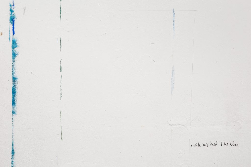 Bela Silva, inside my head I see blue, wall painting, photo: Frederik Vercruysse
