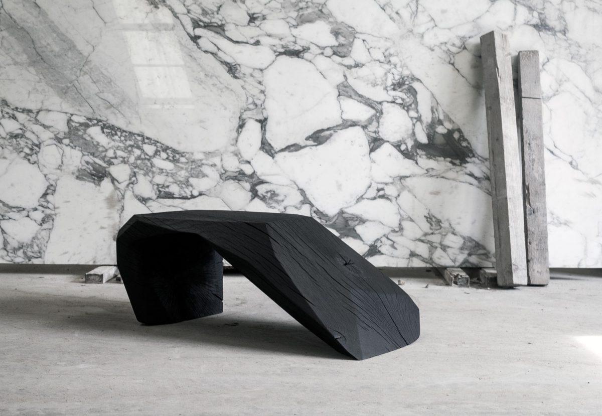 banc noir black bench pro materia. Black Bedroom Furniture Sets. Home Design Ideas
