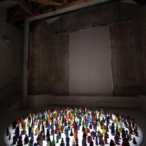 "Installation ""Blow Bangles"" in la Maréchalerie, Contemporary Art Center, Versailles (FR)"