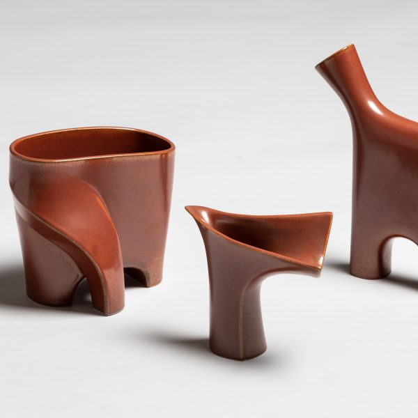 Jin Kuramoto, The Neolithic Collection, Shaped, casted and low red ceramics
