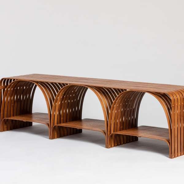 Bridge Bamboo Bench